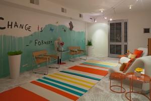 First floor art of Justin Lyons