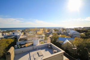 Panoramic views of Seaside and the Gulf of Mexico