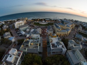 Aerial view of Seaside Florida