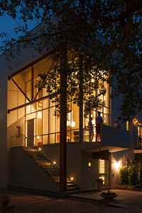 302 Ruskin Place at night