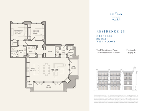 The Lucian Floor Plans 23 South Walton Luxury Homes