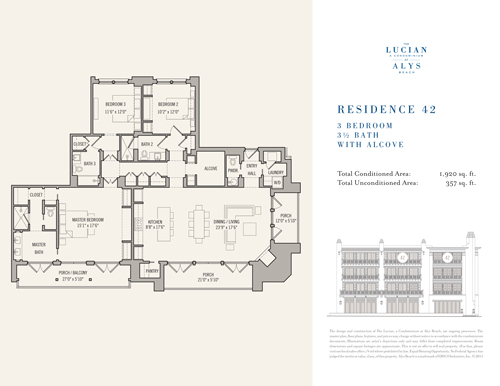 The Lucian Floor Plans 42 South Walton Luxury Homes