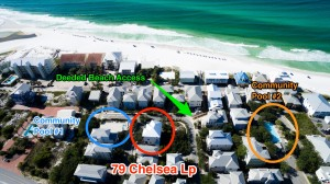 30A Home for Sale Steps from Beach